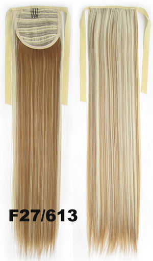 Hair Extension,Ponytail with band,Ribbon Ponytail,Straight hair,Wig Hairpiece,synthetic hair wig,woman wigs,wig hairs,Bath & Beauty,Accessories RP-666 F27/613