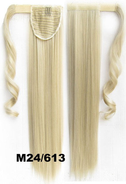 Velcro Wrap Ponytail Hair Extension,Ponytail with band,Ribbon Ponytail,Straight hair,Wig Hairpiece,synthetic hair wig,woman wigs,wig hairs,Bath & Beauty,Accessories BIP-666 M24/613
