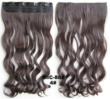Bath & Beauty 5 Clip in synthetic hair extension hairpieces wavy slice curly hairpiece MIC-888 4#,Hair Care,fashion Cosplay ombre 1PCS