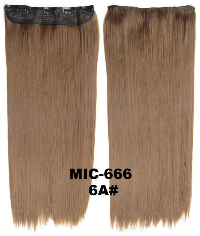 Wig,Hair Extension,Clip in synthetic hair extension,5 clips ponytail,Heat resistance synthetic fibre,MIC-666 6A#,100 g 24