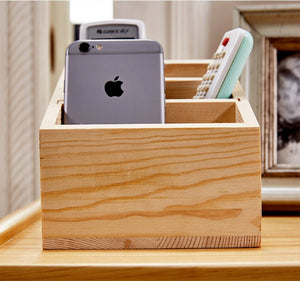 Wooden Organizer Storage Box