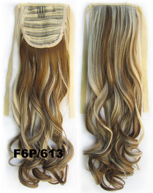 Curly synthetic hair extension,Ribbon ponytail synthetic hair extension Clip In on Hair Pony,Wavy Hairpiece,woman wigs,wig hairs,Accessories,Bath & Beauty RP-888 F6P/613