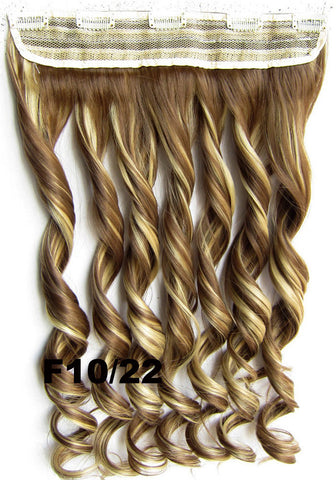 Clip in synthetic hair extension hairpieces 5 clips in on wavy slice hairpiece GS-888 F10/22,60cm,130grams,16 colors available 1pcs
