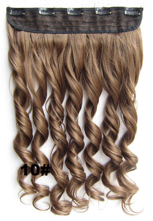 Clip in synthetic hair extension hairpieces 5 clips in on wavy slice hairpiece GS-888 10#,60cm,130grams,16 colors available 1pcs