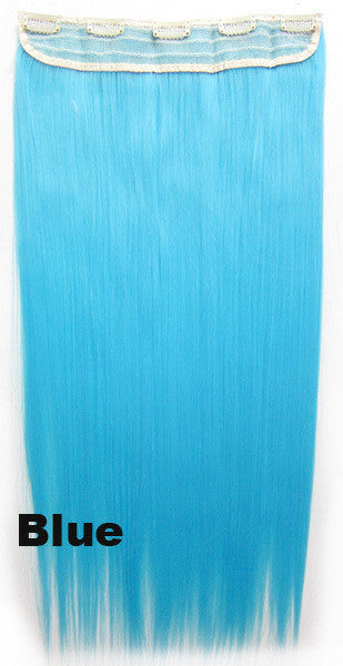 Candy colors Straight hair 5 Clip-in Marley Braid Hair European And American Hot Wigs Wholesale Hair Color Piece hairpieces New Fashion Women wig Bath & Beauty Ombre Hair Extensions Colorful Hairpieces GS-666 Blue