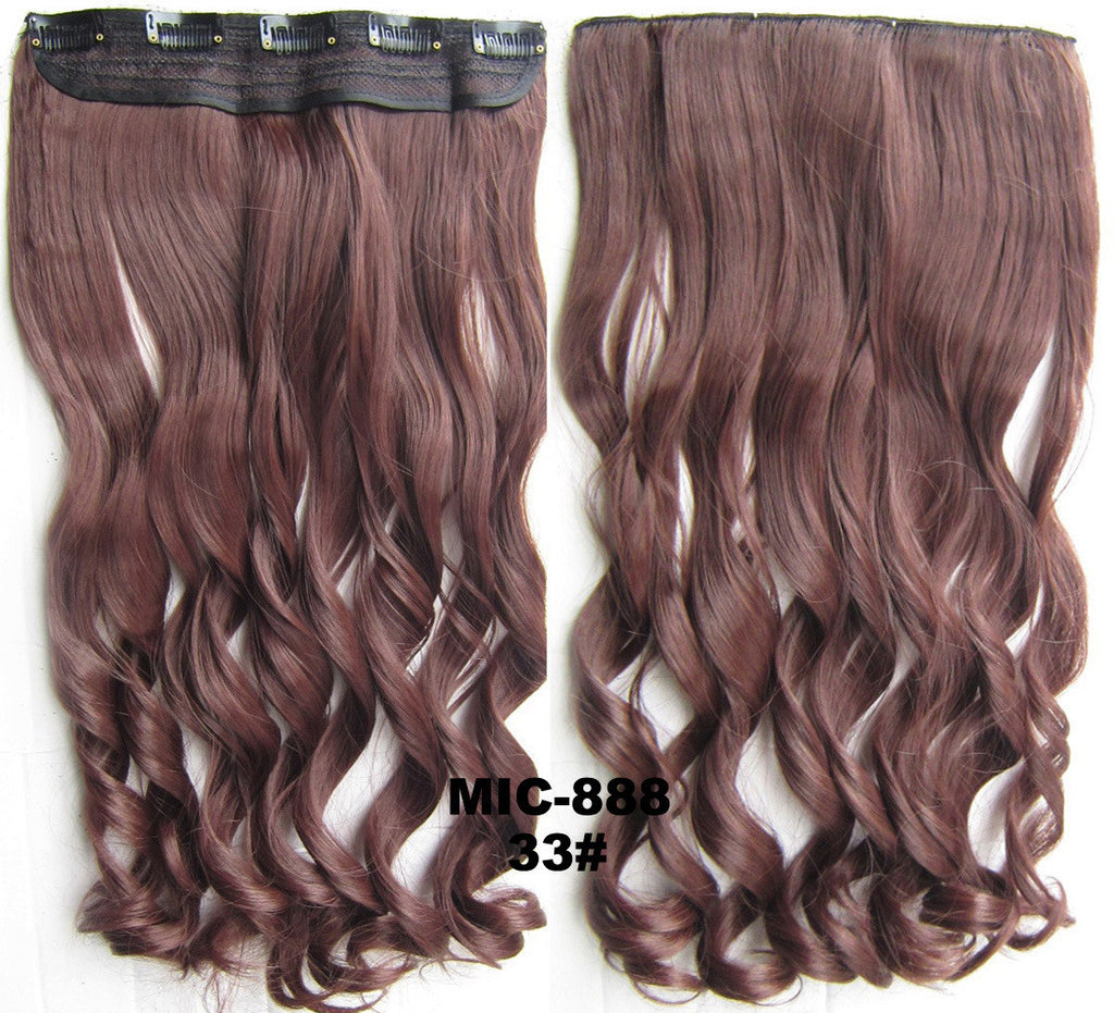 Bath & Beauty 5 Clip in synthetic hair extension hairpieces wavy slice curly hairpiece MIC-888 33#,Hair Care,fashion Cosplay ombre 1PCS