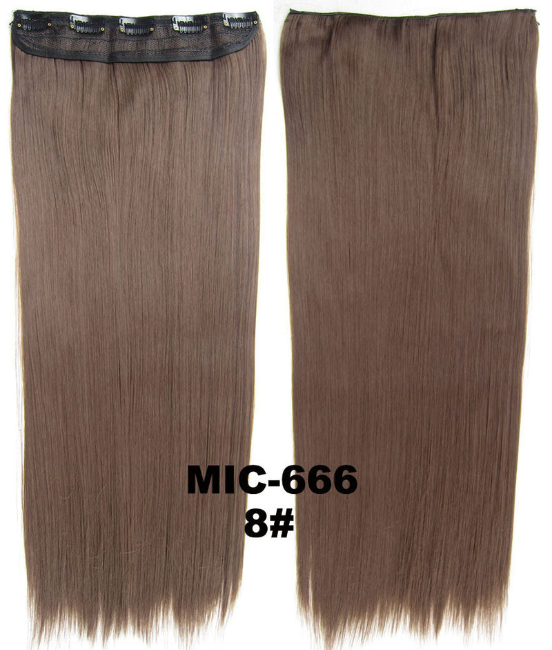 Wig,Hair Extension,Clip in synthetic hair extension,5 clips ponytail,Heat resistance synthetic fibre,MIC-666 8#,100 g 24
