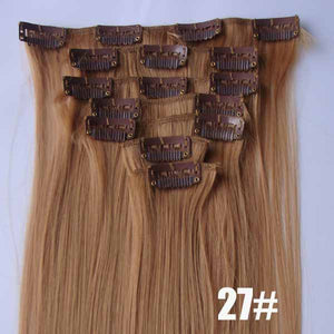 27# Bath&Beauty clip in synthetic hair extensions 7pcs/set,90grams hairpieces clip in hair 7pcs Straight hair,curly hairpiece,Hair Care,fashion COSPLAY ombre 1PCS