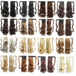 Ponytail Hair Extension Heat Proof Synthetic Wrap Around Invisable Long wavy Velcro Ponytail Hair Extension Clip In on Hair Pony Tail,Wig Hairpiece,woman wigs,wig hairs,Bath & Beauty,Accessories BIP-888 F613/6