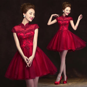 2015 new red bride dress wedding dress clothing dinner jacket party small dress annual meeting suit dress costumes 89614215