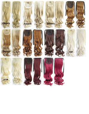 Curly synthetic hair extension,Ribbon ponytail synthetic hair extension Clip In on Hair Pony,Wavy Hairpiece,woman wigs,wig hairs,Accessories,Bath & Beauty RP-888 Burg