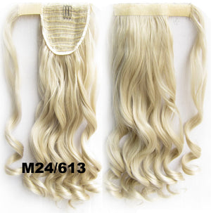16 Colors Heat Proof Synthetic Wrap Around Invisable Long wavy Velcro Ponytail Hair Extension Clip In on Hair Pony Tail,Wig Hairpiece,woman wigs,wig hairs,Bath & Beauty,Accessories BIP-888,1pcs