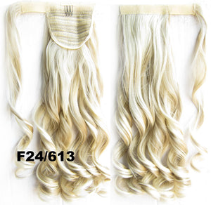 Ponytail Hair Extension Heat Proof Synthetic Wrap Around Invisable Long wavy Velcro Ponytail Hair Extension Clip In on Hair Pony Tail,Wig Hairpiece,woman wigs,wig hairs,Bath & Beauty,Accessories BIP-888 F24/613