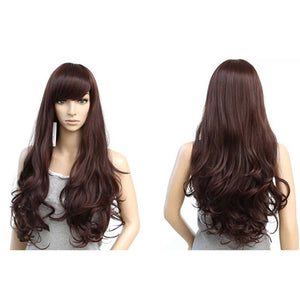 Fashion Long Hair Wig Big Wavy Curly Wigs Synthetic Hair Cosplay Wig Repaire Face Hair High Temperature Rihanna's Hairstyle S6001