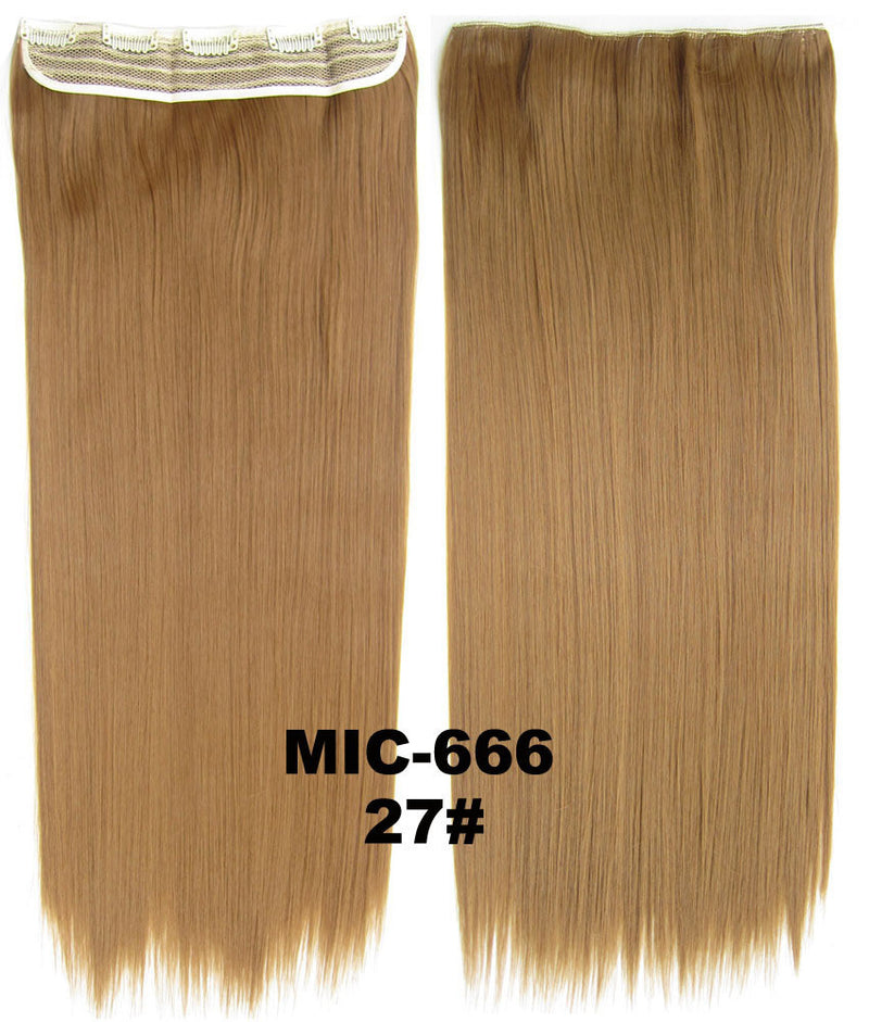 Wig,Hair Extension,Clip in synthetic hair extension,5 clips ponytail,Heat resistance synthetic fibre,MIC-666 27#,100 g 24