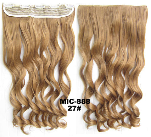 Bath & Beauty 5 Clip in synthetic hair extension hairpieces wavy slice curly hairpiece MIC-888 27#,Hair Care,fashion Cosplay ombre 1PCS