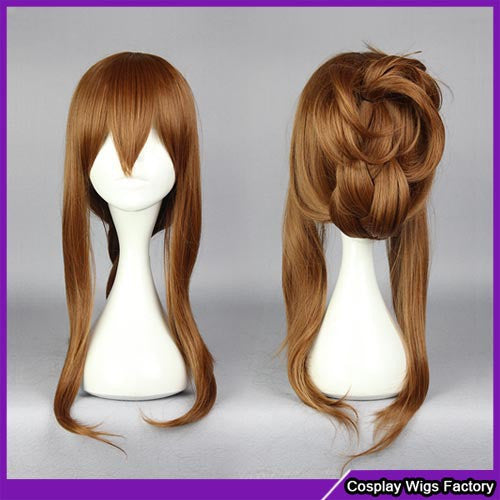 Fashion style Brown wig cosplay fashion wig,Colorful Candy Colored synthetic Hair Extension Hair piece 1pcs WIG-577H