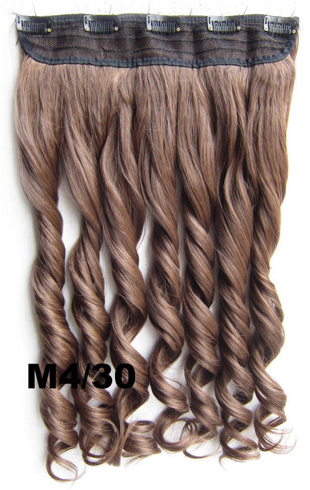 Bath&Beauty Clip in synthetic hair extension hairpieces 5 clips in on wavy slice curly hairpiece GS-888 M4/30,Hair Care,fashion COSPLAY ombre 1PCS