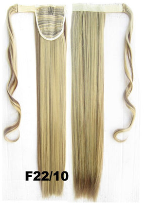 Velcro Wrap Ponytail Hair Extension,Ponytail with band,Ribbon Ponytail,Straight hair,Wig Hairpiece,synthetic hair wig,woman wigs,wig hairs,Bath & Beauty,Accessories BIP-666 F22/10