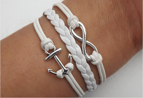 Cross infinity Anchor arrow Bird Bracelet,Bracelets,Hipsters jewelry,Bracelet,braided bracelet,Couples bracelet,lover bracelets,bangle bracelet,,leather bracelet,charm bracelet,white wax rope Bracelet
