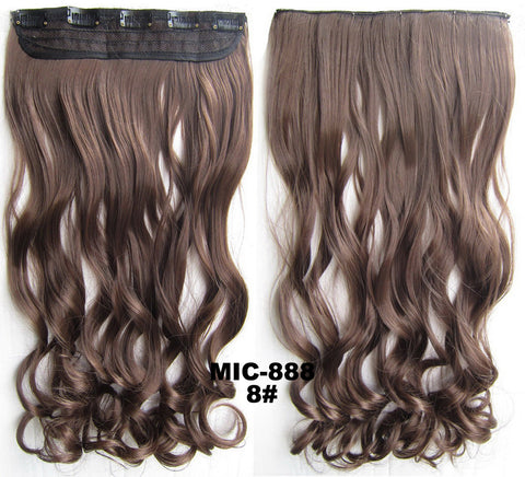 Bath & Beauty 5 Clip in synthetic hair extension hairpieces wavy slice curly hairpiece MIC-888 8#,Hair Care,fashion Cosplay ombre 1PCS