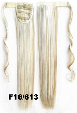 Velcro Wrap Ponytail Hair Extension,Ponytail with band,Ribbon Ponytail,Straight hair,Wig Hairpiece,synthetic hair wig,woman wigs,wig hairs,Bath & Beauty,Accessories BIP-666 F16/613