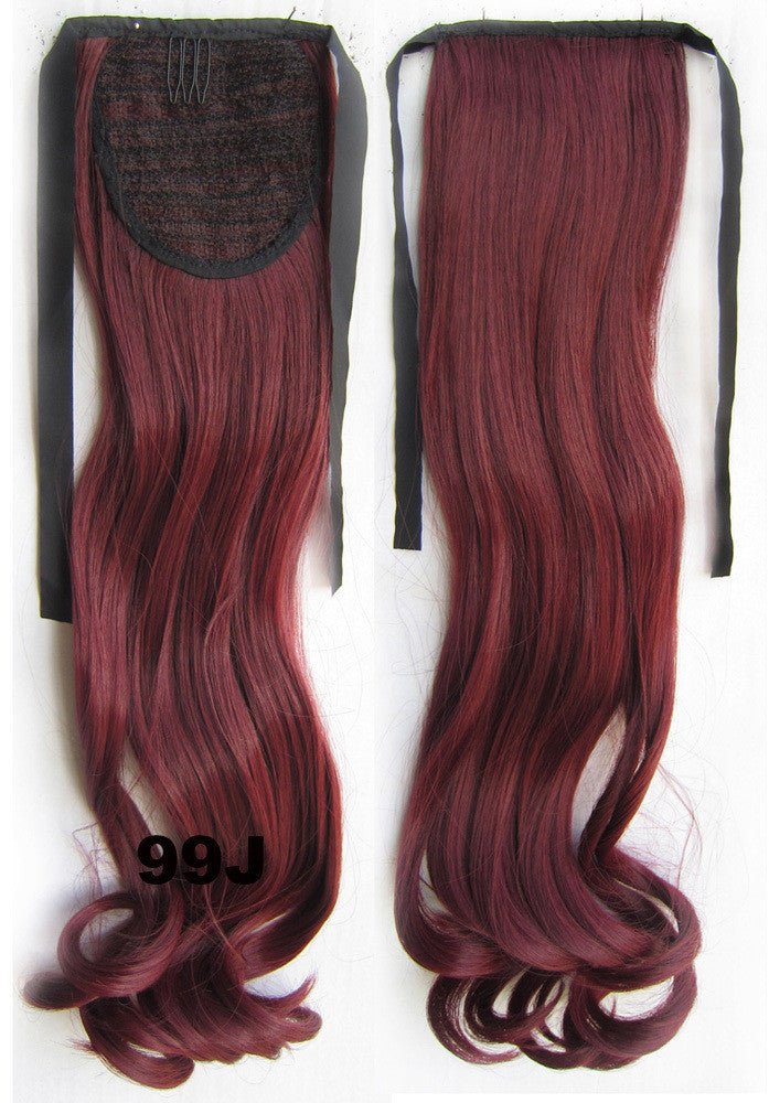 Curly synthetic hair extension,Ribbon ponytail synthetic hair extension Clip In on Hair Pony,Wavy Hairpiece,woman wigs,wig hairs,Accessories,Bath & Beauty RP-888 99J