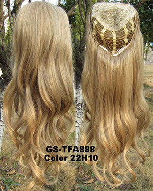 "HOT 3/4 Half Long Curly Wavy Wig Heat Resistant Synthetic Wig Hair 200g 24"" Highlighted Curly Wig Hairpieces with Comb Wig Hair GS-TFA888 22H10"