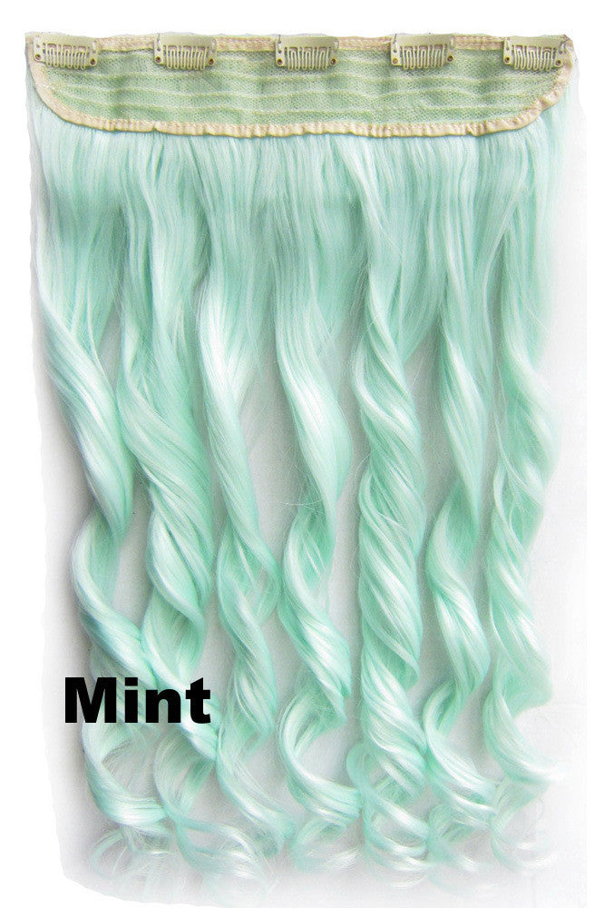 Mint Ombre Colorful Candy 5 Clip In Hair Extensions 1weft5pcs Body