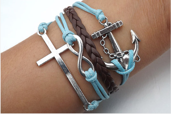 Cross infinity Anchor arrow heart Bird bead Bracelet,Bracelets,Hipsters jewelry,Bracelet,braided bracelet,Couples bracelet,lover bracelets,bangle bracelet,,leather bracelet,charm bracelet,white wax rope Bracelet
