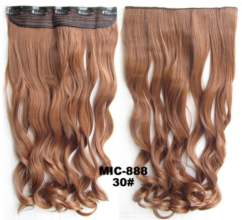 Bath & Beauty 5 Clip in synthetic hair extension hairpieces wavy slice curly hairpiece MIC-888 30#,Hair Care,fashion Cosplay ombre 1PCS
