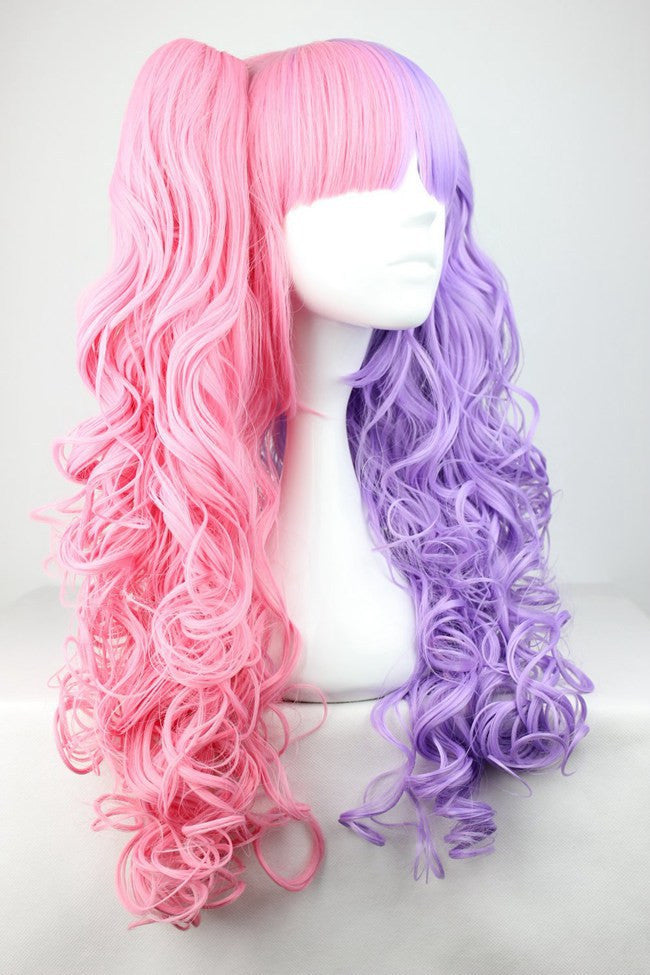 Cotton candy wig 70cm60cm long pink and purple cosplay wig mixed cotton candy wig 70cm60cm long pink and purple cosplay wig mixed beautiful lolita wig anime wigcolorful candy colored synthetic hair extension hair piece pmusecretfo Images