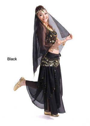 2014 new belly dance India dance costume suits performing service upscale exercise suits T007-Black