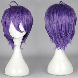 Synthetic Short Wigs Straight Fashion KasenKanesada WIG Full Lace Bog Wigs Style For Anime Cosplay/Party,Colorful Candy Colored synthetic Hair Extension Hair piece 1pcs WIG-579L