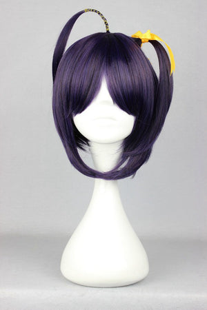 Fashion StyleJapanese Chuunibyou Demo Koi ga Shitai-Takanashi Rikka dark purple Wig,Colorful Candy Colored synthetic Hair Extension Hair piece 1pcs WIG-297A