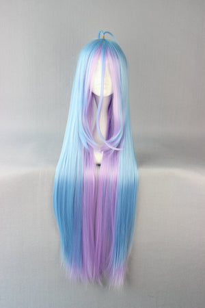 Famous Cartoon 105cm multi-color Long no game no life Shiro Cosplay Wig,Colorful Candy Colored synthetic Hair Extension Hair piece 1pcs WIG-558B