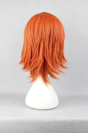 One Piece Nami New Arrival 35cm straight short orange red wig,New Highlight Ombre Colorful Candy Colored synthetic Hair Extension Hair piece 1pcs WIG-244A