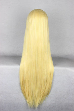 New Arrival 80cm Long straight Blonde Wig,Colorful Candy Colored synthetic Hair Extension Hair piece 1pcs WIG-001P