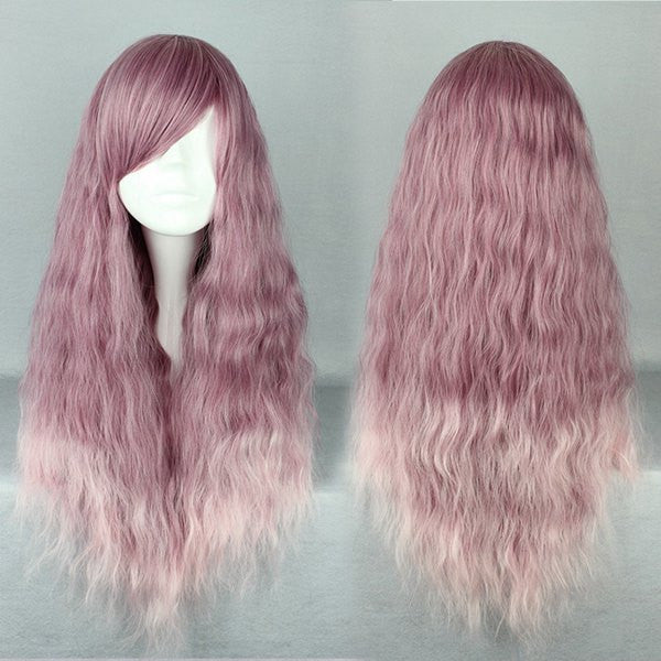 Long Curly Heat Resistant Synthetic Purple Cosplay Wig Lolita Wig