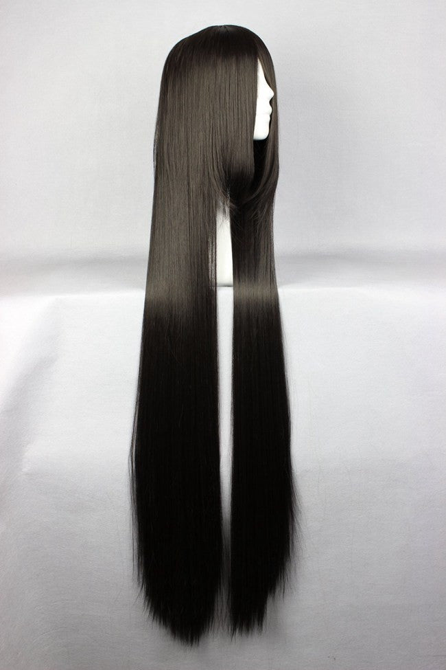 120cm Long Straight Cheap Synthetic Long Black Wig Straightcolorful