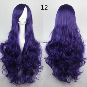 COS Wig Hair Extension woman wigs Hatsune Miku Cosplay Wig long hair wig wigs synthetic hair cap multicolor hair curly wig hair S2312-12
