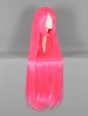 Hot Selling anime cute long pink wig Party/Cosplay/Carnival wig for woman,Colorful Candy Colored synthetic Hair Extension Hair piece 1pcs WIG-017N