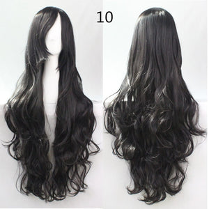 COS Wig Hair Extension woman wigs Hatsune Miku Cosplay Wig long hair wig wigs synthetic hair cap multicolor hair curly wig hair S2312-10