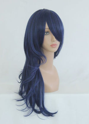 The Prince of Tennis Classical High Quality Black Blue 65cm Long Wavy Synthetic Wig,Colorful Candy Colored synthetic Hair Extension Hair piece 1pcs WIG-040A
