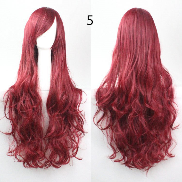 COS Wig Hair Extension woman wigs Hatsune Miku Cosplay Wig long hair wig wigs synthetic hair cap multicolor hair curly wig hair S2312-5