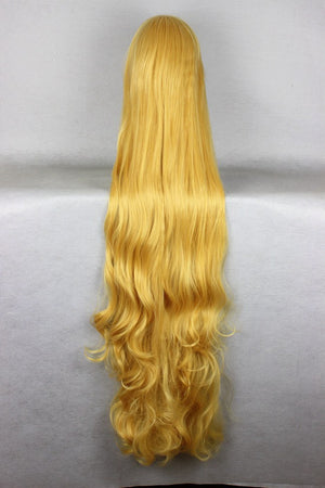 Gosick Victorique De Blois 150cm Long Loose Weave Blonde Yellow Anime Wig,Colorful Candy Colored synthetic Hair Extension Hair piece 1pcs CodeGeass-Nunnally Vi Britannia WIG-501D
