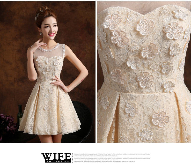 Annual fall/winter evening dress bride short bridesmaid dresses female sisters dress
