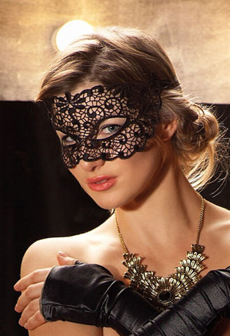 1Pcs Halloween Masquerade Sexy Lady Lace Mask cutout mask Party White Black mj003
