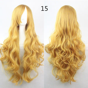 16 Colors COS Wig Hair Extension woman wigs Hatsune Miku Cosplay Wig long hair wig wigs synthetic hair cap multicolor hair curly wig hair S2312