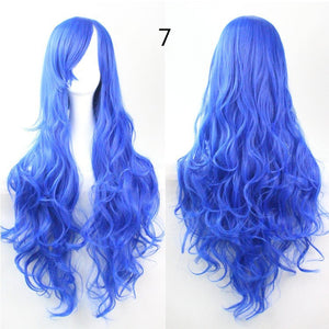 COS Wig Hair Extension woman wigs Hatsune Miku Cosplay Wig long hair wig wigs synthetic hair cap multicolor hair curly wig hair S2312-7
